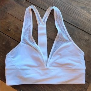 Lululemon white sports bra with lace